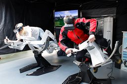 Virtual Reality Motorradrennen in Offenbach