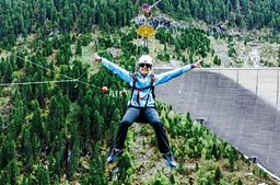 Flying Fox am Schlegeis-Stausee im Zillertal